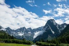 Paisaje del Mt Siguniang en Sichuan, China Foto de archivo libre de regalías