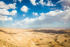 Paisaje del negev del desierto Imagen de archivo