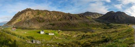 Paisaje del norte de Noruega cerca de Honningsvag Fotografía de archivo libre de regalías