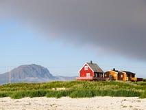Paisaje del noruego de Lofoten fotografía de archivo