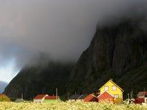 Paisaje del noruego de Lofoten imagen de archivo libre de regalías