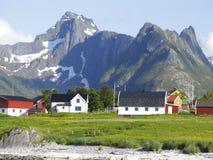 Paisaje del noruego de Lofoten imágenes de archivo libres de regalías