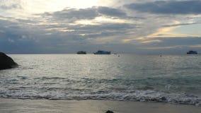 Paisaje del océano de la mañana metrajes