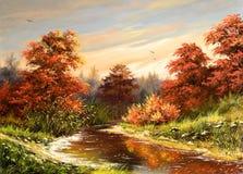 Paisaje del otoño Stock de ilustración