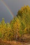 Paisaje del otoño. Arco iris Imagen de archivo