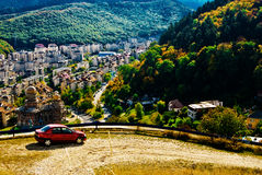Paisaje del otoño con Brasov Imagen de archivo libre de regalías