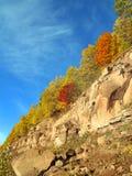 Paisaje del otoño con la roca Imagen de archivo libre de regalías