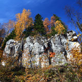 Paisaje del otoño con la roca Fotografía de archivo libre de regalías