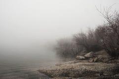 Paisaje del otoño con niebla Fotos de archivo libres de regalías
