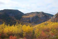 Paisaje del otoño de Charlevoix Fotografía de archivo libre de regalías