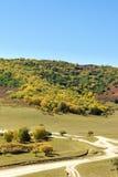 paisaje del otoño de la montaña de cinco colores Fotografía de archivo libre de regalías