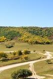 paisaje del otoño de la montaña de cinco colores Foto de archivo libre de regalías