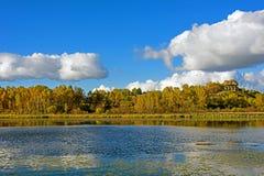 Paisaje del otoño del lago Sun Fotografía de archivo libre de regalías