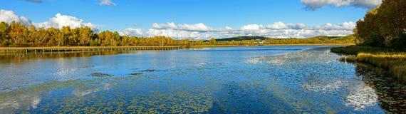 Paisaje del otoño del lago Sun Fotos de archivo libres de regalías