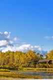 Paisaje del otoño del lago Sun Imagen de archivo