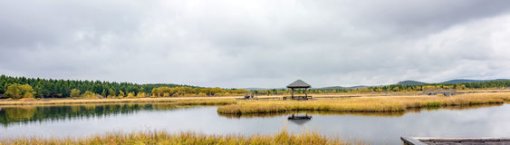 Paisaje del otoño del parque del humedal de Qixinghu Fotografía de archivo