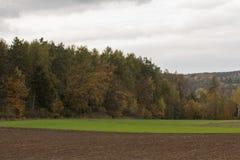 Paisaje del otoño en Baviera Imagen de archivo