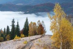 Paisaje del otoño en las montañas Fotos de archivo libres de regalías