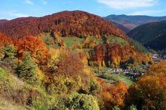 Paisaje del otoño en las montañas de Rumania Fotos de archivo