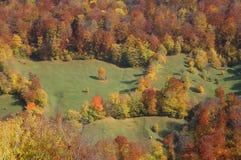 Paisaje del otoño en las montañas de Rumania Fotos de archivo libres de regalías