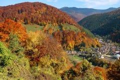 Paisaje del otoño en las montañas de Rumania Imagenes de archivo