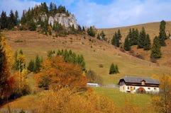 Paisaje del otoño en las montañas de Rumania Foto de archivo libre de regalías
