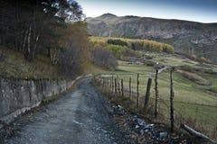 Paisaje del otoño en montañas Imagen de archivo