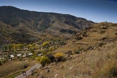 Paisaje del otoño en montañas Imagen de archivo libre de regalías
