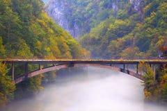 Paisaje del otoño en montañas Fotos de archivo