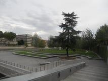Paisaje del otoño en septiembre en Madrid en España imagen de archivo