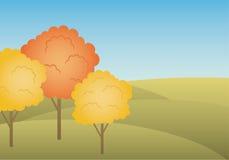 Paisaje del otoño. vector, gradiente Imágenes de archivo libres de regalías