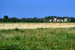 Paisaje del país cerca de Fiorenzuola Piacenza, Italia Imagen de archivo