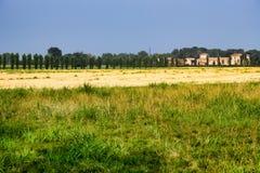 Paisaje del país cerca de Fiorenzuola Piacenza, Italia Foto de archivo libre de regalías