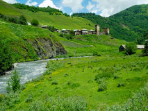 Paisaje del país en Davberi Foto de archivo