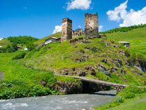 Paisaje del país en Davberi Fotos de archivo libres de regalías