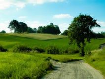 Paisaje del país, naturaleza polaca típica Imagenes de archivo