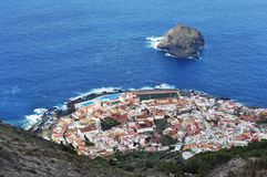 Paisaje del paisaje de Garachico, Tenerife fotografía de archivo