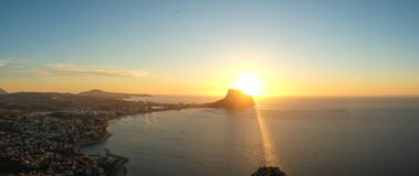 Paisaje del panorama de Costa Blanca Foto de archivo libre de regalías