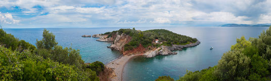 Paisaje del panorama de la isla de Evvoia Imagenes de archivo
