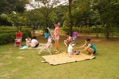 Paisaje del parque de Shenzhen Xin'an Fotografía de archivo libre de regalías