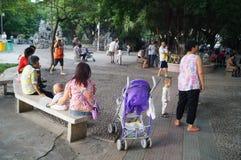 Paisaje del parque de Shenzhen Xixiang Imágenes de archivo libres de regalías