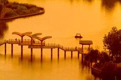 Paisaje del parque del agua de Shijiazhuang Fotos de archivo libres de regalías