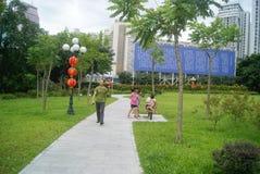 Paisaje del parque del lichí de Shenzhen, en China Imagenes de archivo