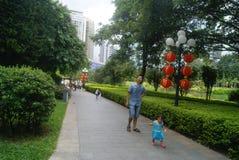 Paisaje del parque del lichí de Shenzhen, en China Imagen de archivo libre de regalías