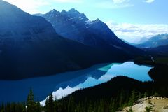 Paisaje del parque nacional de Banff Fotos de archivo libres de regalías