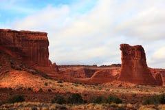 Paisaje del parque nacional de los arcos Fotografía de archivo