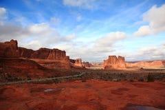 Paisaje del parque nacional de los arcos Fotografía de archivo libre de regalías