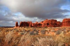 Paisaje del parque nacional de los arcos Fotos de archivo