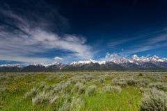Paisaje del parque nacional de Yellowstone fotografía de archivo