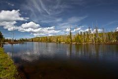 Paisaje del parque nacional de Yellowstone imagenes de archivo